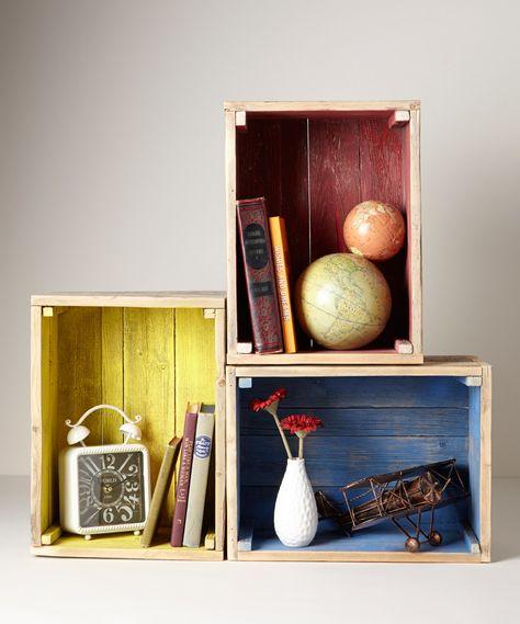 Reclaimed wooden crates - DIY