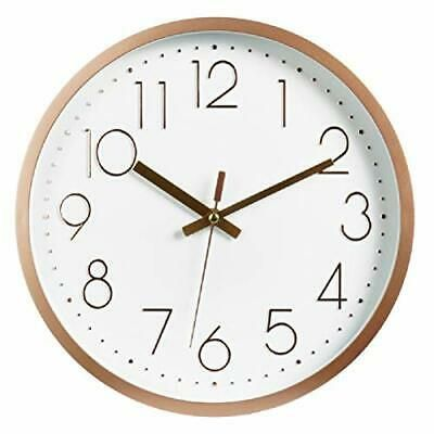 Tebery 12 Inch Silent Non Ticking Round Wall Clocks Quartz Gold Clock Battery Fashion Home Garden Homedcor Clocks Ebay In 2020 Gold Wall Clock Wall Clock Clock