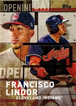 2018 Topps Mlb Opening Day Od 14 Francisco Lindor Front 2018