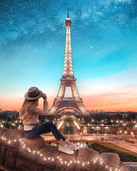 If you do what you love, it is the best way to relax.  Paris, France. Eiffel Tower  #Eiffel #paris #france #tower #EiffelTower #girl #sky #city