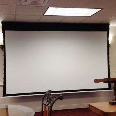 Elite Screens Evanesce White Electric Projection Screen Viewing Area 120 Diagonal 16 10 Projection Screen Portable Projector Screen Projector Screen