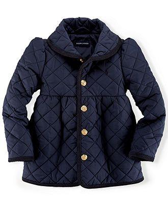 Ralph Lauren Toddler Girls' Quilted Shawl Collar Jacket - Kids - Macy's