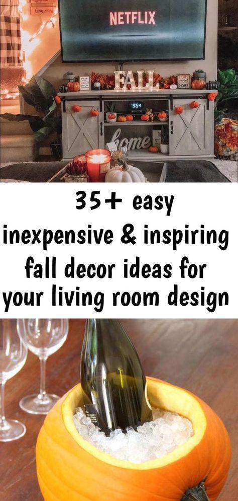 ➽35+ easy inexpensive & inspiring fall decor ideas for your living room design 8