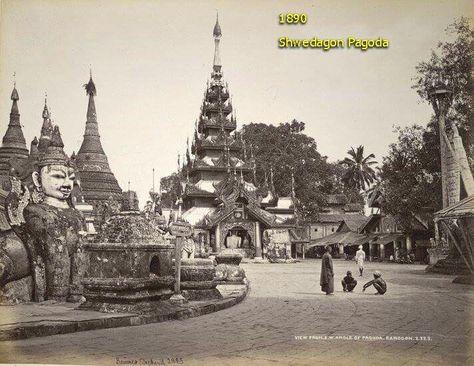 c1890,Shwedagon pagoda,Rangoon.