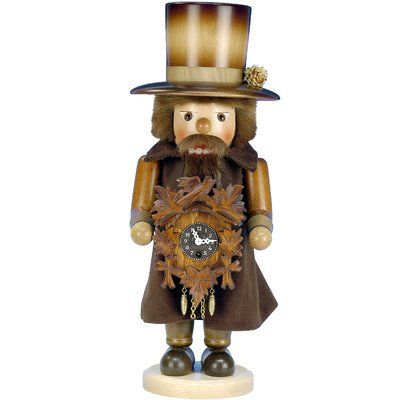 The Holiday Aisle Christian Ulbricht Clockmaker with Key-Wound Clock Nutcracker