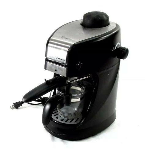 Capresso Steam Pro 4 Cup Espresso Cappuccino Machine Model 304 M 692621369934 Ebay Cappuccino Machine Espresso Espresso Cups