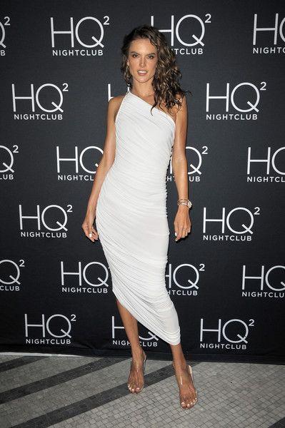 Alessandra Ambrosio visits HQ2  Beachclub at Ocean Resort Casino.