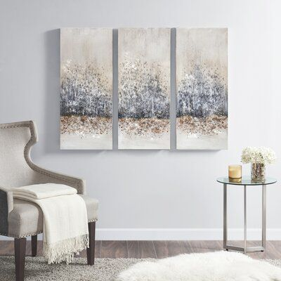 Rosdorf Park Twilight Mystere 3 Piece Painting Set On Canvas Wayfair Ca In 2020 Canvas Wall Art Set Glam Wall Art Wall Art Canvas Prints