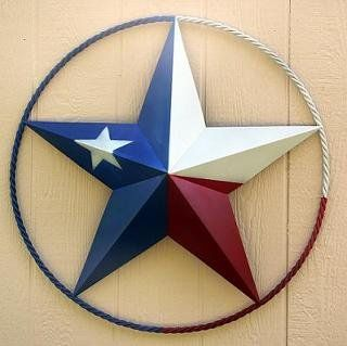 """Lone Star Painted in Texas Flag 24"""""""