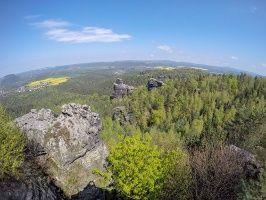 Foto Auf Dem Papststein Gps Wandern Wandern Und Festung Konigstein