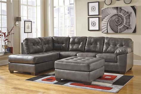 Alliston Collection 20102 Sectional Sofa In 2020 Leather Sectional Sofas Grey Leather Sectional Grey Sectional Sofa