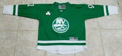 huge discount 85e8e 9f638 NHL New York Islanders John Tavares  91 St. Patricks Day Jersey Youth Size  S M  Reebok  NewYorkIslanders