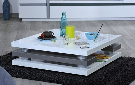 Wit Tv Meubel 90 Cm.Design Vierkant Salontafel Chris Afmetingen Breedte 90 Cm Hoogte