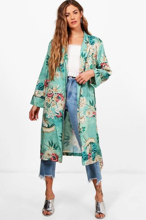 Add an extra edge to your outfit with the flattering silhouette of a kimono; with serious layer-ability / floral duster / belted kimono duster /