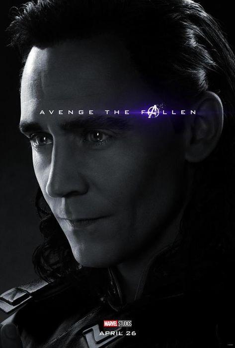 Avengers: Endgame 2019 Character Poster Loki Avenge the Fallen poster Marvel comic movie quality print Avengers 4