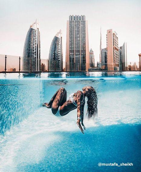 Rooftop Pools Of Dubai Skyscraper Gevora Hotel Photo By Mustafa Sheikh Dubai Resorts Best Resorts Dubai Travel