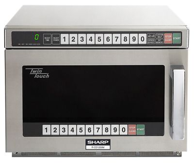 Sharp Commercial Twin Touch Microwave Oven 75 Cu Ft 1200 Watts Microwave Oven Microwave Watts