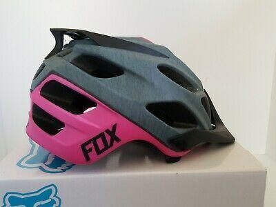 Ad Ebay Fox Flux Women S Mtb Helmet Grey Pink L Xl Helmet Mountain Bike Helmets Mtb
