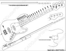 Pdf Jazz Bass Electric Guitar Plan Fender Style Bass Guitar Chords Guitar Electric Guitar