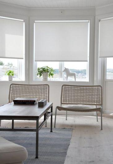 white roller blinds   Roller Blinds   Pinterest   White roller blinds,  Window and Window coverings