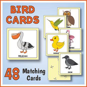 Printable Bird Matching Game With Images Matching Games Fun