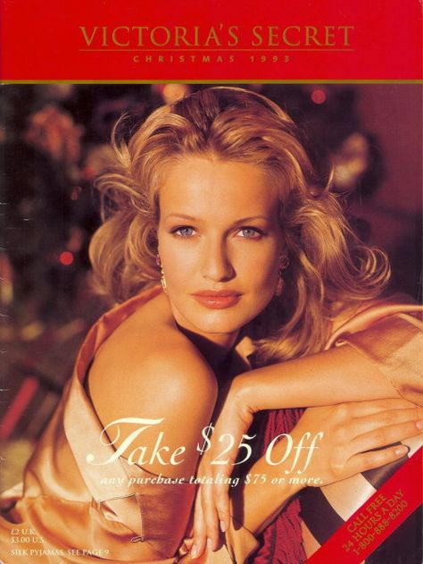 Karen Mulder Victoria Secret catologe covers 90's