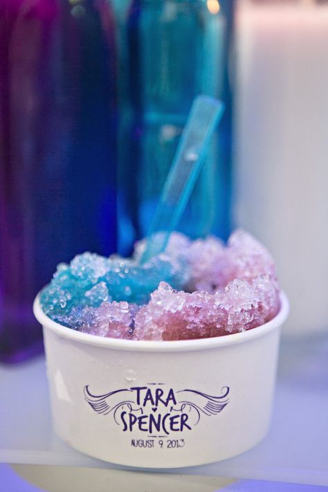 A snow cone bar for a wedding? Genius. photo by Switzerfilm, event planning by Events Luxe
