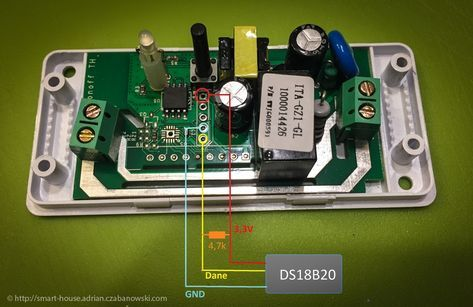 Sonoff firmware: DS18B20 sesnor - Smart'ny Dom | Arduino