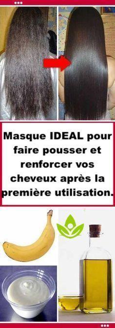 Masque Pour Faire Pousser Les Cheveux : masque, faire, pousser, cheveux, Masque, IDEAL, Faire, Pousser, Renforcer, Cheveux, Après, Première, Utilisation., Care,, Beauty, Hacks,, Hacks