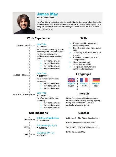Timeline CV template in Microsoft Word - How to write a CV r2r2r2r