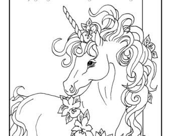 Fairy Unicorn Printable Coloring Page Digital Download Fantasy Unicorn Fairy Original Art Page To Embellish For Girls Room Malvorlage Einhorn Malvorlagen Pferde Einhorn Zeichnen