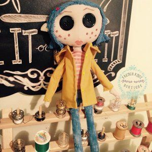 Coraline Doll Pattern Make Your Own Little Me As Seen In Stuffed Magazine Coraline Doll Doll Pattern Dolls Handmade
