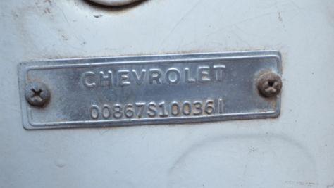 1960 C1 Corvette Vin Guide