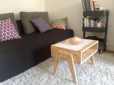 Table Basse Osb Plexi Blanc Diy In 2019 Pinterest Osb Wood