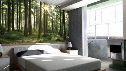 Wonderful Nature Bedroom Wallpaper Home Design Ideas And Pictures