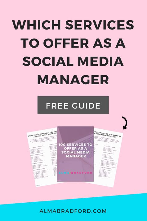 Services to Offer As A Social Media Manager
