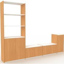 Reduzierte Tv Schranke Fernsehschranke Tv Schrank Buche Moderner Fernsehschrank Turen In Buche 265 X 195 X In 2020 Tv Unit Design Tv Unit Decor Home Decor