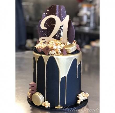 21 Ideas Birthday Cake Black Gold Gatsby Party 25th Birthday