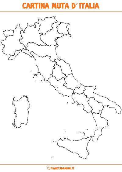 Stampare Cartina Muta Italia Province.Cartina Muta Fisica E Politica Dell Italia Da Stampare Mappa Dell Italia Attivita Geografia Le Idee Della Scuola