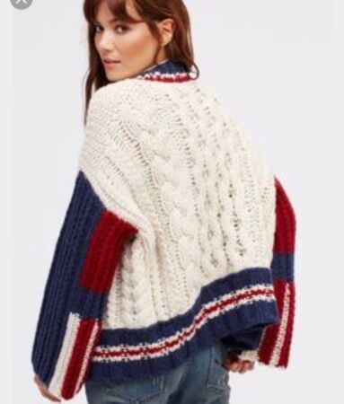 East Gate Cable Knit Bomber at Free People Clothing Boutique