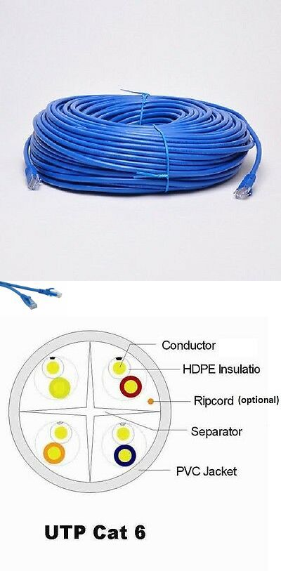 Details About 300 Ft Rj45 Cat6 Ethernet Lan Network Internet Computer 23 Awg Solid Cable Utp With Images Ethernet Cable Cable Plug Modular Plug