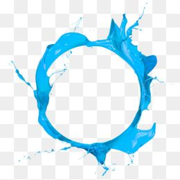 Blue Circle Paint Pouring Paint Splash Decorative Material Png Picture Material Free Png Elements Blue Circle Paint Pouring Decorative Ma Ramki Instagram Mazki