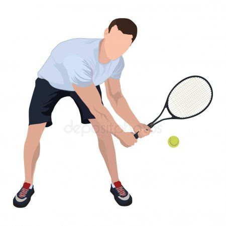 Tennis Player With Ball And Racket Vector Flat Isolated Illustration S Sponsored Ball Racket Tennis Tennis Players Tennis Vintage Photoshop Actions