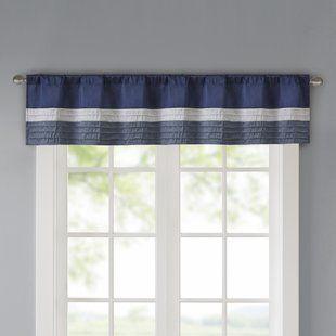 Window Valances Café Kitchen Curtains You Ll Love Wayfair Window Valance Valance Striped Room