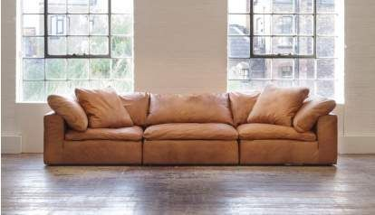 Feather Extra Deep Leather Corner Sofa In 2020 Leather Corner Sofa Sofa Brown Leather Sofa
