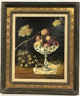 Barton Signed Fruit Oil Painting Painting Oil Painting Art