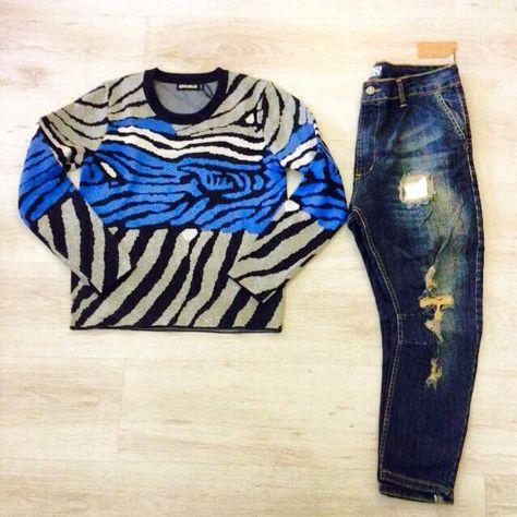 Zebrato Cavallo Maglione Jeans Basso Blu Outfits E Tqq6Udw