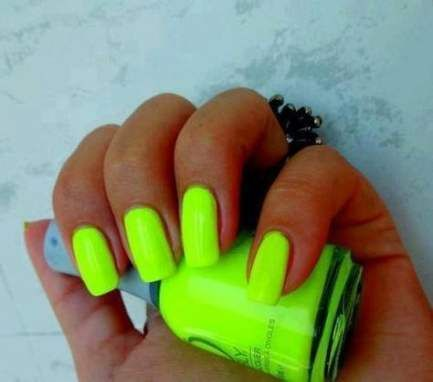 53 Trendy Nails Bright Summer Neon Green Neon Nails Neon Nail