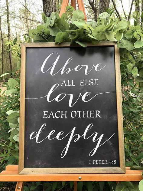 You can add Bible verses signs about love to your wedding decorations with Hobby Lobby wall art. These neutral color Scripture signs are a great focal point for your wedding day. christian wedding ideas 20 Perfect Bible verse signs for weddings Wedding Bible Verses, Bible Verse Signs, Bible Verses About Love, Wedding Bible Readings, Bible Verse Decor, Bible Verses Quotes, Wedding Vows, Wedding Events, Our Wedding
