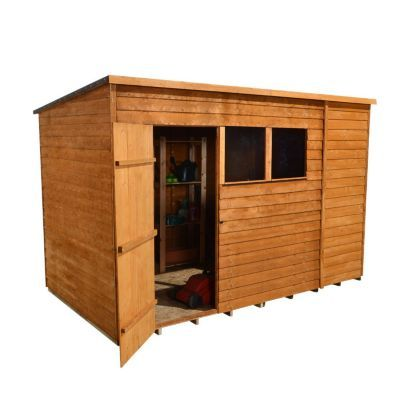 10x6 Overlap Wooden Shed With Pent Roof Home Delivered 5013053137277 Wooden Sheds Shed Plastic Sheds